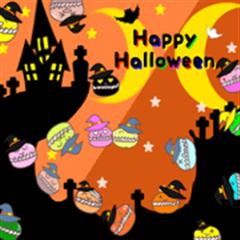 Heart Macaron-chan Happy Halloween