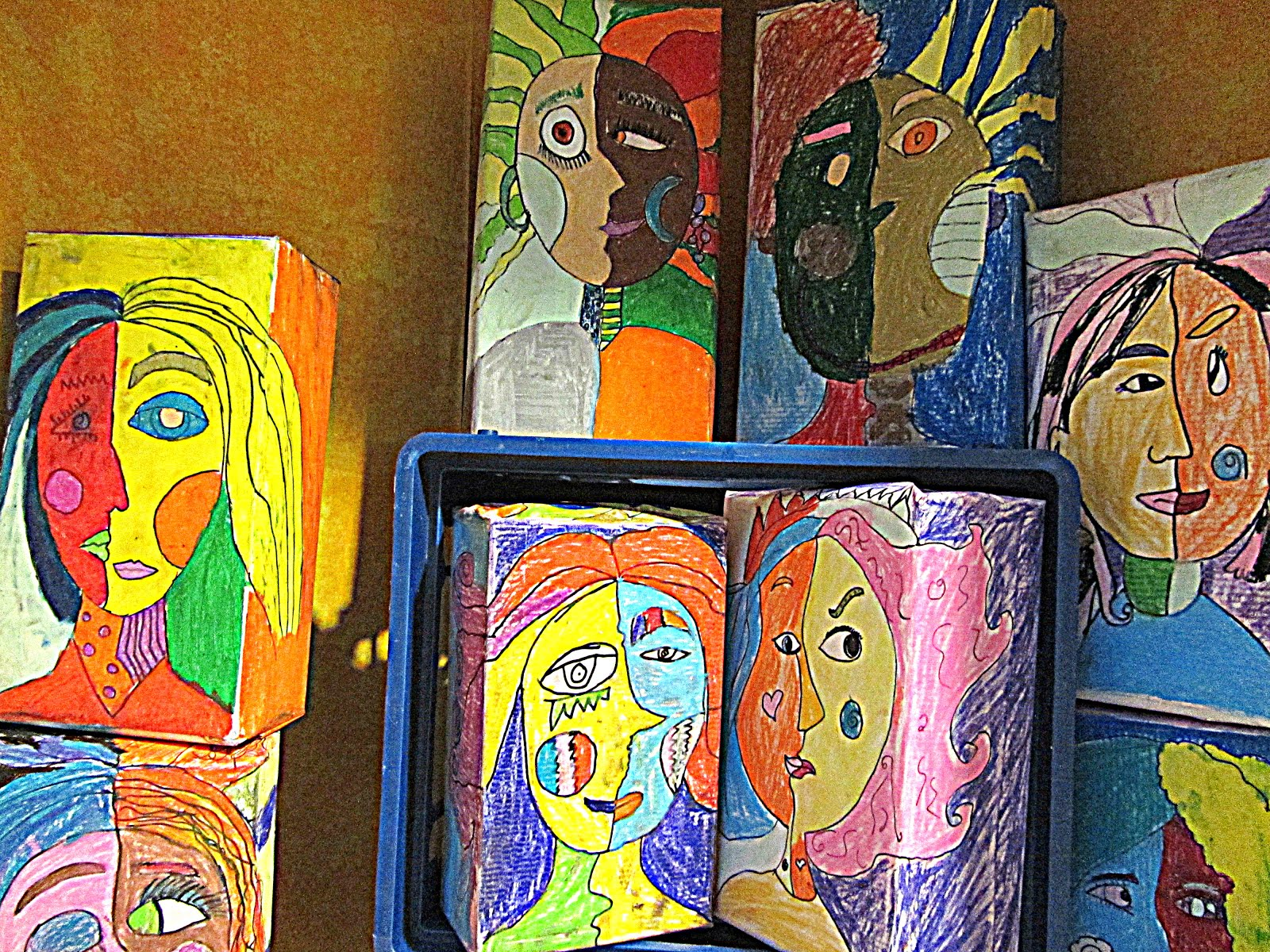 A Glimmer of Light: Picasso Cubist Faces