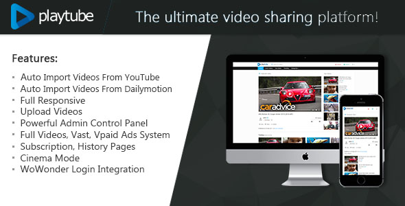 Download PlayTube - The Ultimate PHP Video CMS & Video Sharing Platform Script