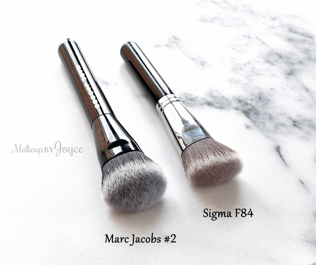 Marc Jacobs #2 Foundation Brush vs Sigma F84 Review