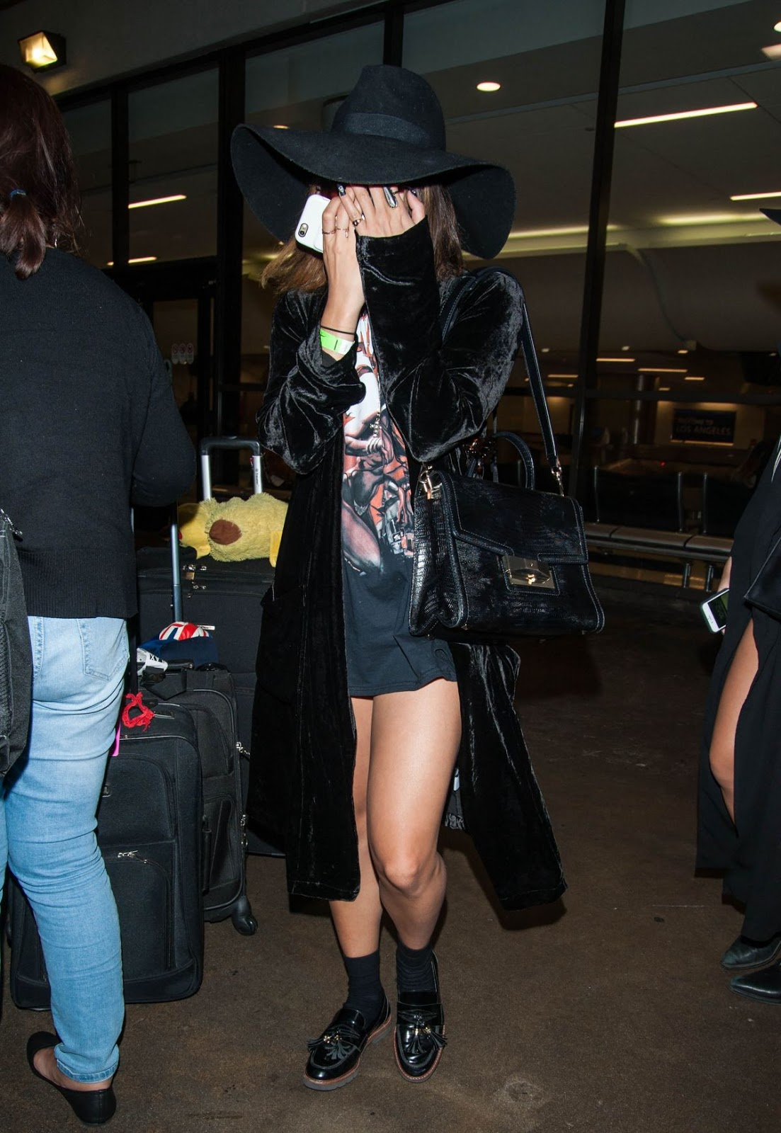 Vanessa Hudgens Leaves at LAX Airport