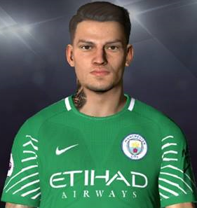 PES 2017 Face & Tattoo Ederson Moraes by Facemaker Ahmed El Shenawy