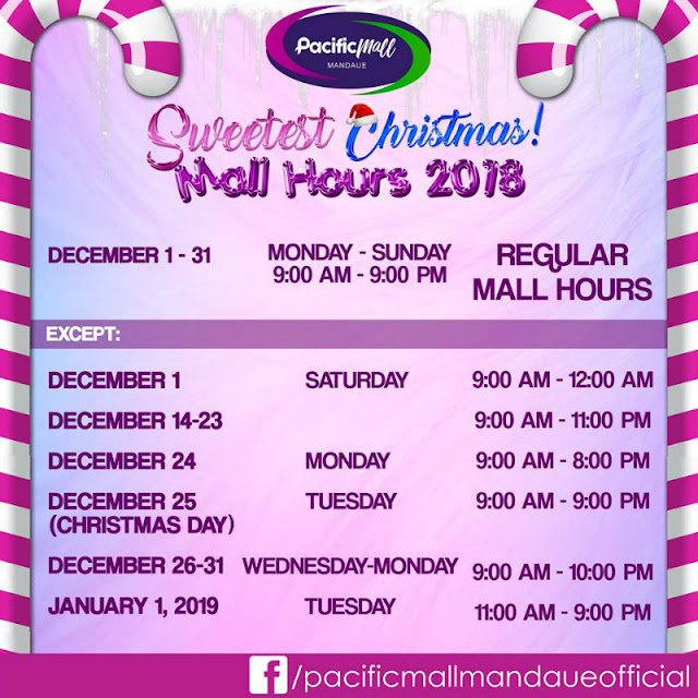 Holiday Mall Hours 2018 Pacific Mall Mandaue
