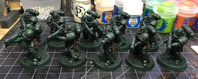 Dark Angels Primaris Hellblasters Washed with some details