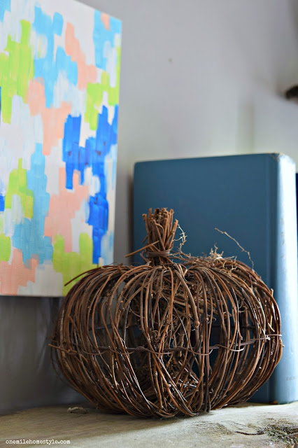 Simple rustic pumpkin fall decor