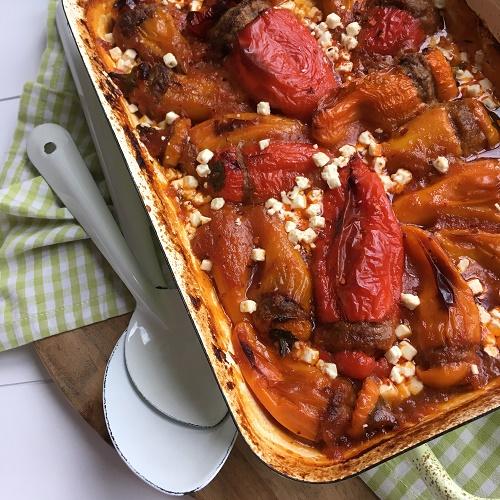 [Lieblingsrezept]gefüllte Minipaprika mit Tomaten-Zwiebel-Sauce aus dem Backofen
