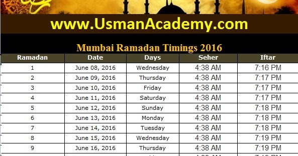 Image Result For Ramadan Calendar Delhi