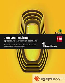 Libro Matemáticas I Aplicadas a las Ciencias Sociales 1º Bachillerato SM Proyecto Savia