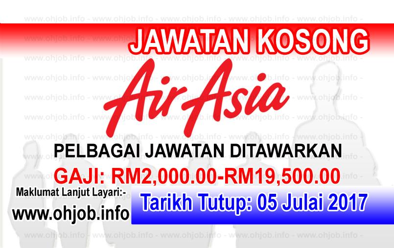 Jawatan Kerja Kosong AirAsia Berhad logo www.ohjob.info julai 2017