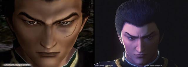 "Lan Di (left: Shenmue II, right: ""Ryo & Master"" trailer)"