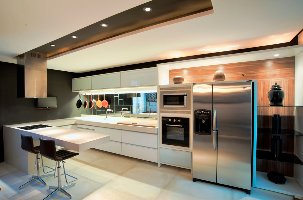 Construindo Minha Casa Clean: 21 Cozinhas Americanas Modernas! Veja