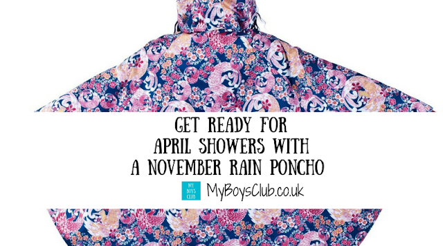 Get Ready for April Showers with a November Rain Poncho plus 20% discount code.