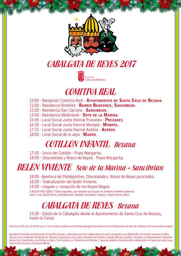 Cabalgata de Reyes y cotillón infantil 2017 en Santa Cruz de Bezana