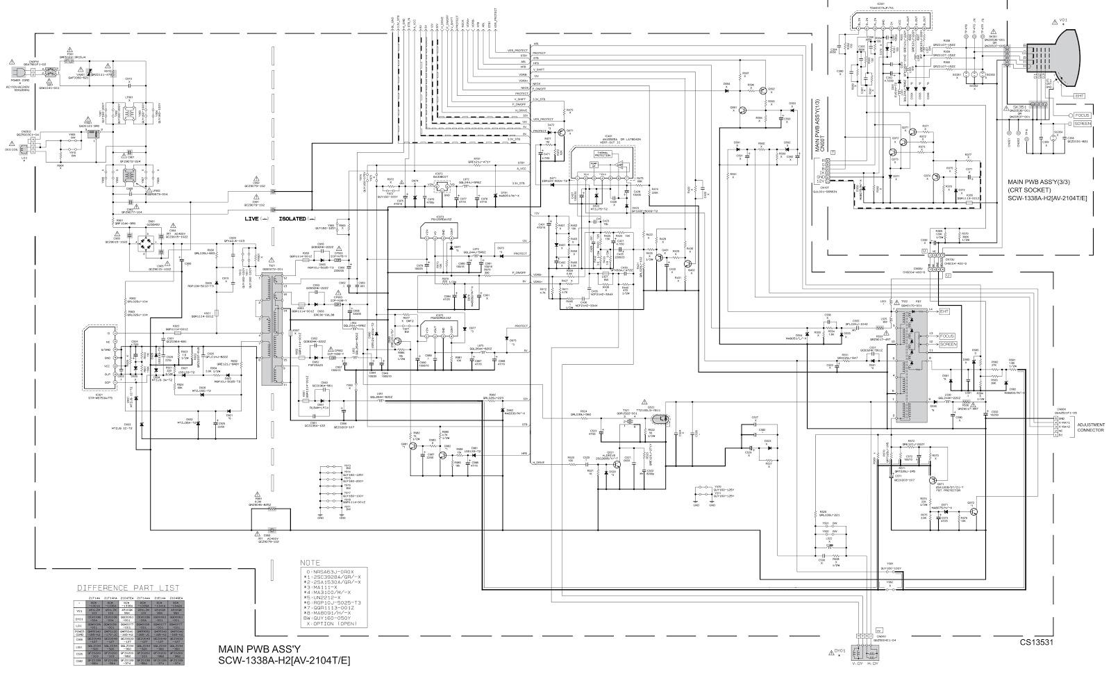 television circuit board diagram