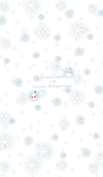 Snowflakes with Snowman & Kagamimochi