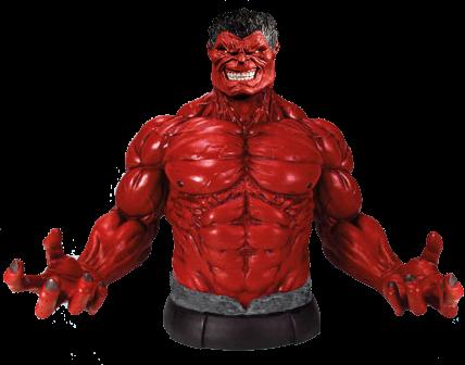 Red Hulk bust