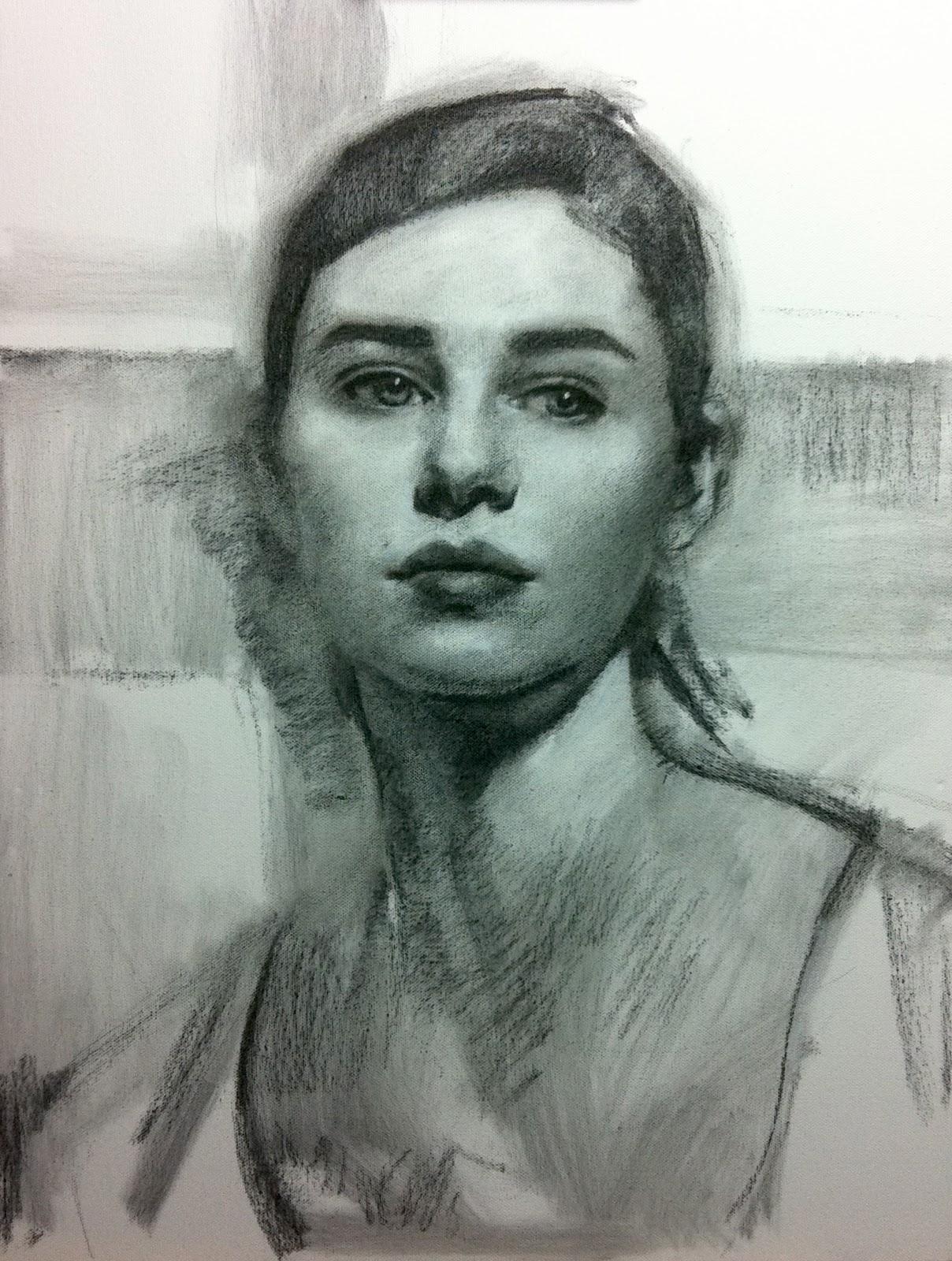Mary sauer art vine charcoal sketch