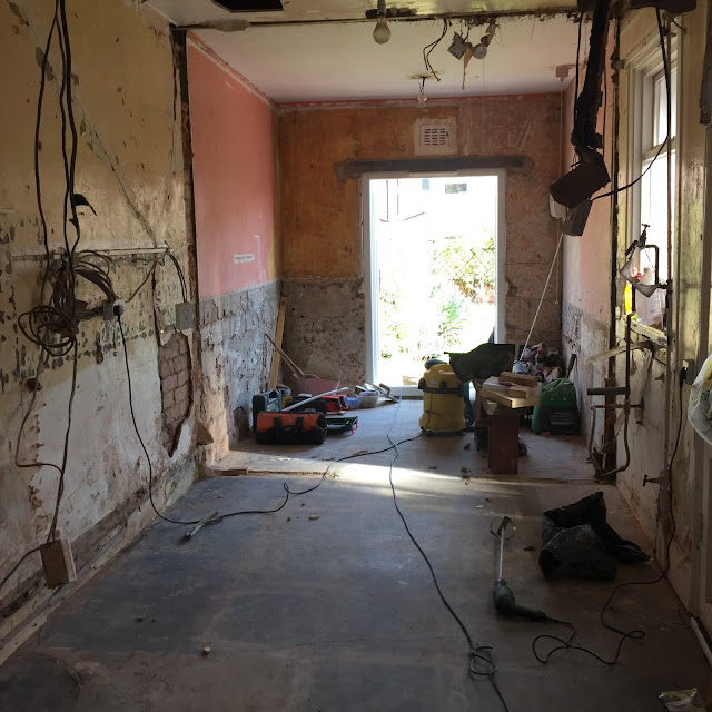 kitchen renovation during demolition