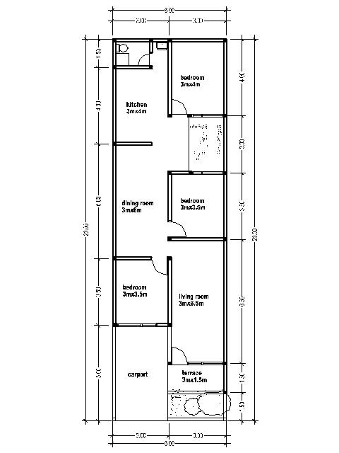 House Plans 6x20 Bedroom Furniture Ideas