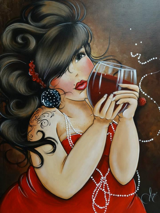 Море пухлого позитива (isabelle Desrochers) женщины, толстушки, рисунки, женщины в рисунках, толстушки в рисунках, толстушки позитивные, толстушки гламурные, алкоголь, шампанское, праздник, художники, иллюстрации, толстушки веселые, Море пухлого позитива, isabelle Desrochers, позитив, красивые иллюстрации, картины, картины с женщинами, про толстушек, красотки,