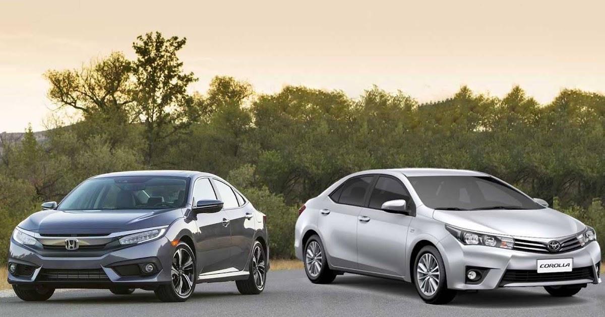 Honda Civic 2017 enfrenta o Toyota Corolla: comparativo