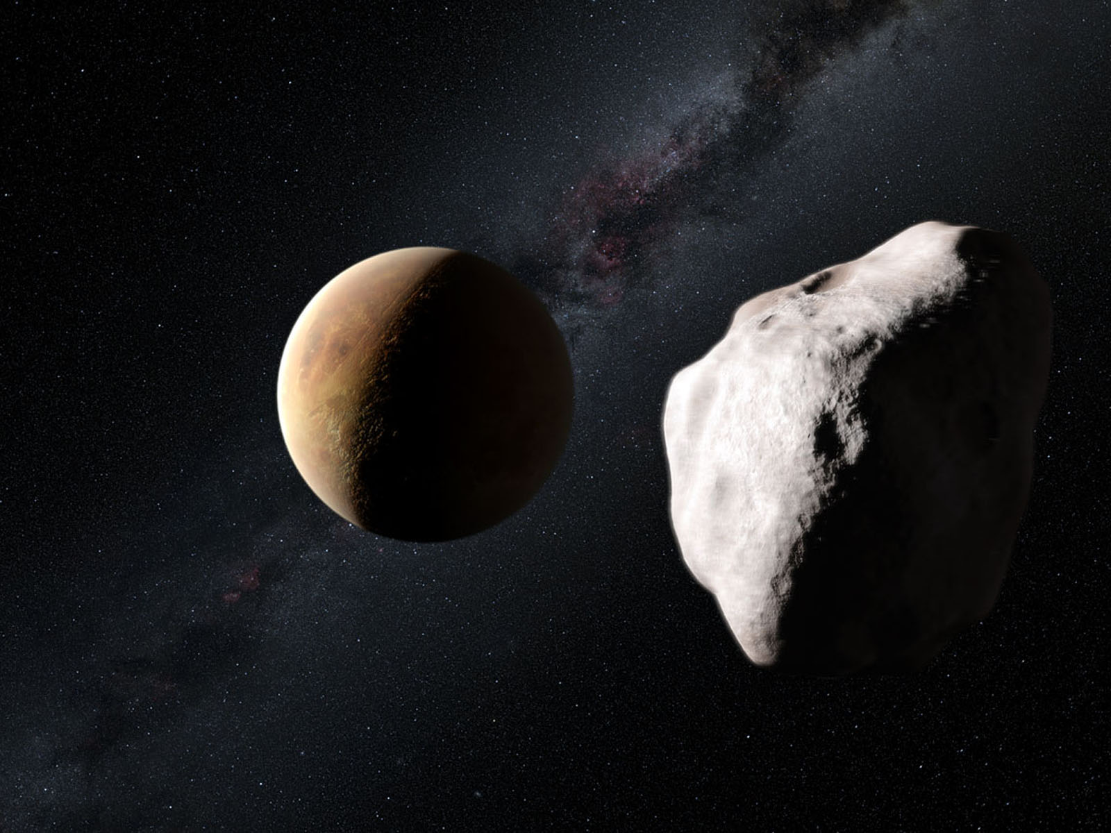 wallpapers: Asteroid Belt In Orbit