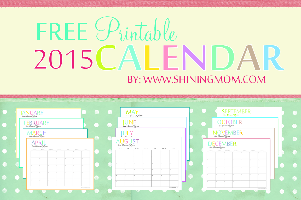 Calendar Monthly Planner : Free printable calendars crafting in the rain