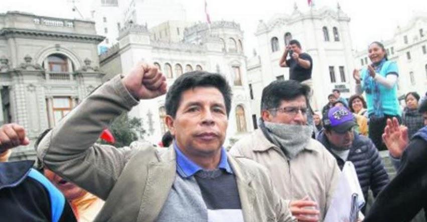 Poder judicial aclara que Pedro Castillo no forma parte ni preside ningún sindicato de docentes