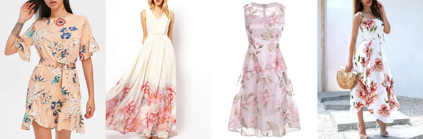 Rosegal flowery dresses
