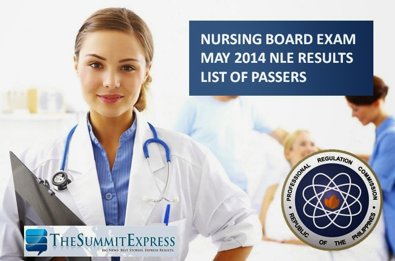 Complete List of Passers May 2014 NLE Nursing board exam (M-Z)