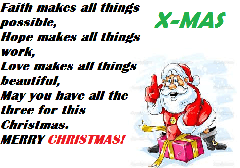 merry Christmas SMS quotes
