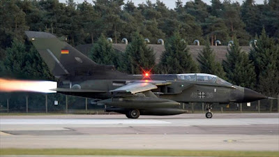 Un cazabombardero Panavia Tornado de la Aviación alemana.