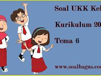 Soal UKK Kelas 1 Tema 6 Kurikulum 2013