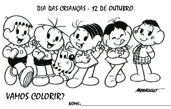 Dia Das Criancas Desenhos E Atividades Colorir Pintar Imprimir Vi