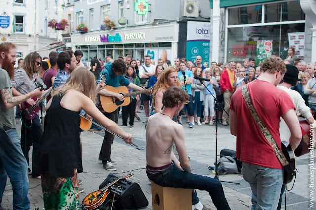 Musica callejera Galway Street Band Irlanda