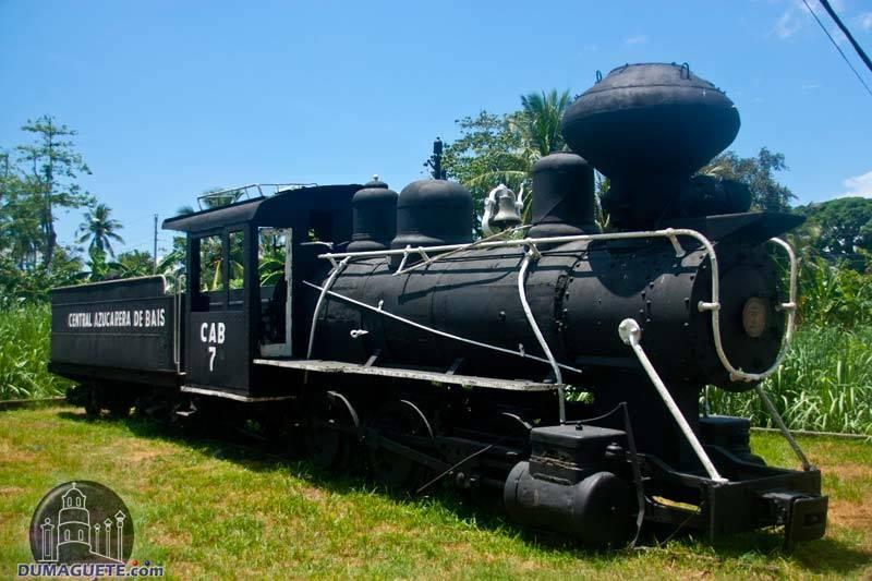 Old Baldwin Steam Train in Bais City near Dumaguete City