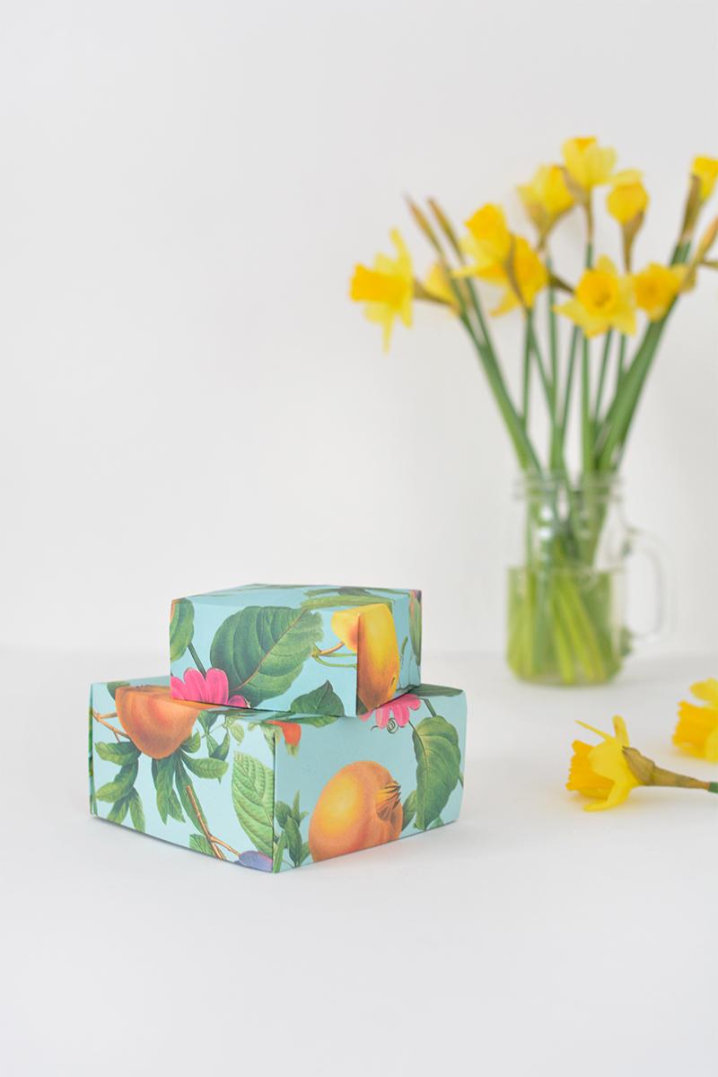 DIY origami boxes