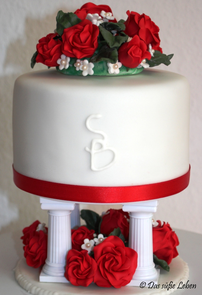 Rezept Hochzeitstorte in rot und wei  Das se Leben