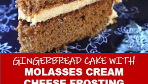 #recipe #food #drink #delicious #family #Gingerbread #Cake #with #Molasses #Cream #Cheese #Frosting