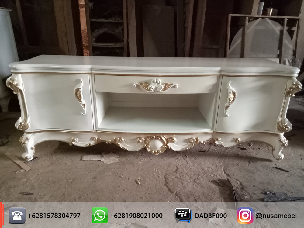 French style sideboard in white finish ismun