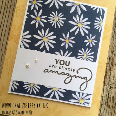 Create a beautiful daisy card with the Delightful Daisy Designer Series Paper from Stampin' Up!