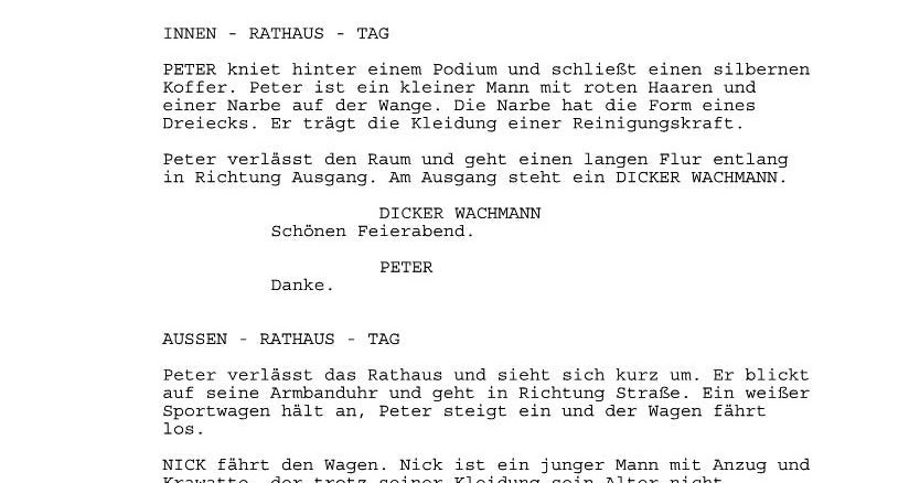 Hansruedi (Haru) Vetsch: Drehbuch