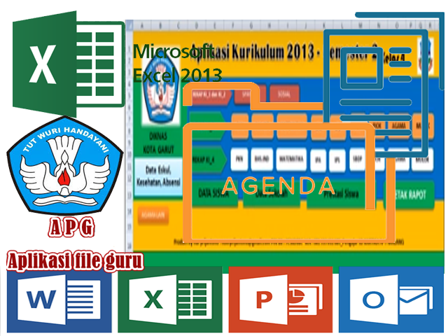 Download Aplikasi Raport Kurikulum 2013 Kelas 4 SD Revisi 2017/2018 Terbaru