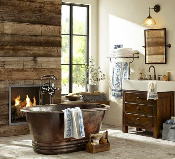 Decoracion Baños Rusticos Pequenos:30 Consigue un baño coqueto con la combinación perfecta de