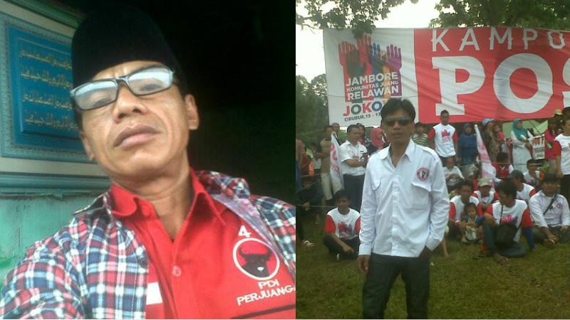 Foto Richard Sukarno dengan atribut PDIP dan Pospera