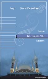 Desainer Grafika Download Kartu Nama Masjid Agung Semarang