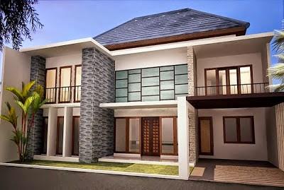 gambar desain rumah mewah minimalis 2 lantai | desain