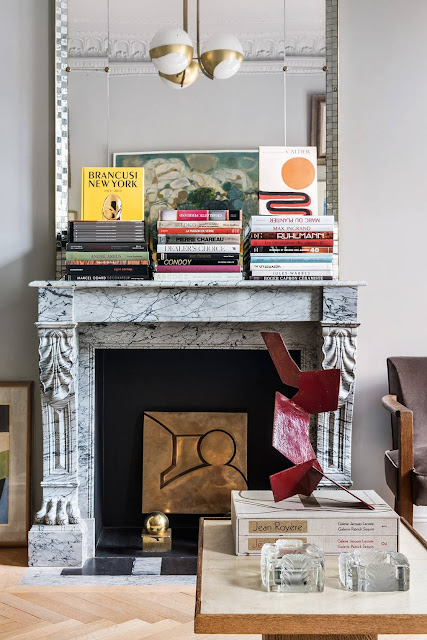 Fireplace - French Art Deco Flat