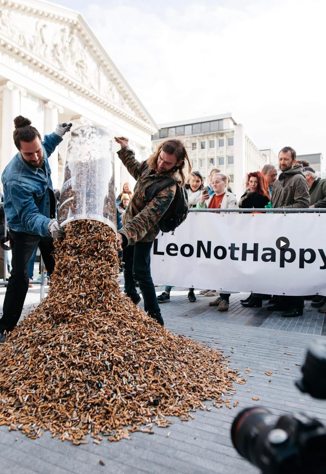 Volunteers In Brussels Collected About 300,000 Cigarette Butts In Only Three Hours
