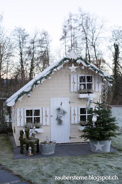 Kinderspielhaus, Weihnachtshaus, Knusperhaus, Elfenhaus, Kreativblog Schweiz, Weihnachtsdeko, Kinderweihnachtsdeko, Kinderinspiration